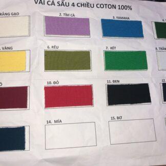 Màu vải cá sấu 4 chiều 100% cotton