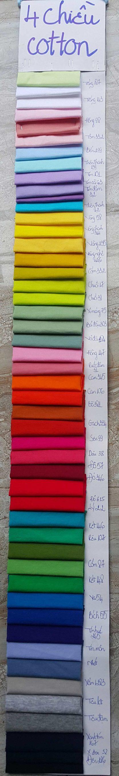 Màu vải cotton 4 chiều-total