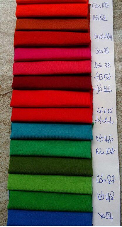 Màu vải cotton 4 chiều